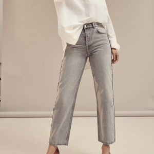 Kate Straight Jeans Blast Grey