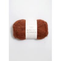 Børstet alpakka rust 3355