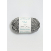 Tynn merinoull grå 1042