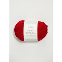 Tynn merinoull rød 4219