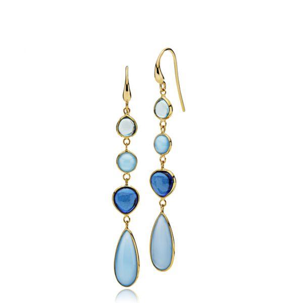 Skyline earrings Blue long