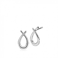 ATTITUDE SMALL EARRINGS WHITE SILVER