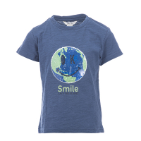 Salto t-shirt «Smile save the planet» med flipp
