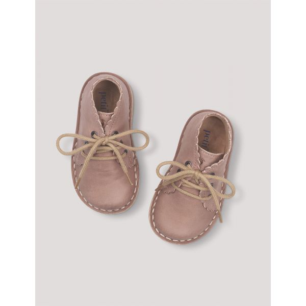 PETIT NORD - SCALLOP BOOT OLD ROSE