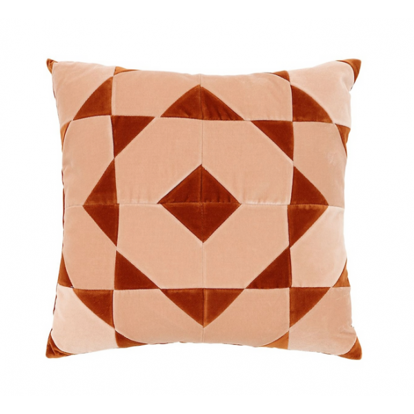 50x50 Hannah - Plaster/Burnt Orange