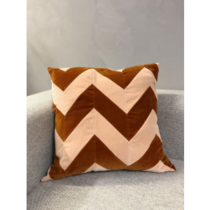 60x60 Zigzag - Plaster/Burnt Orange