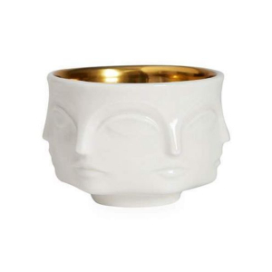 Muse Bowl - White/Gold