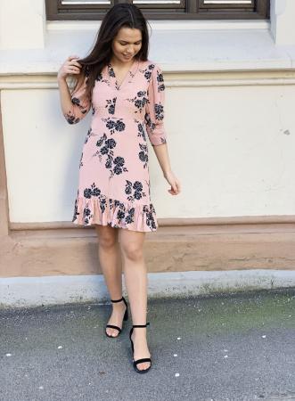 Delicate V-Neck Mini Dress