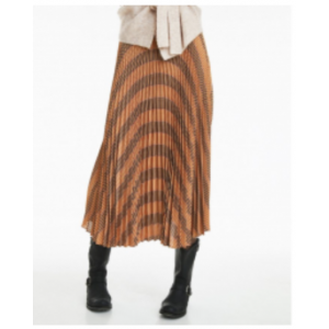 Rosy check skirt