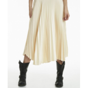 Rosy solid skirt