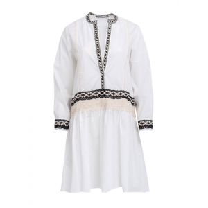 Devotion kjole - White/Black Lace