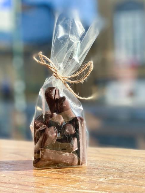 Kandisert ingefær i mørk sjokolade 100 gram