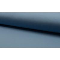 French terry støvblå  børstet bakside