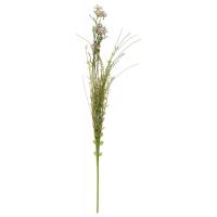 Stilk grå og grønn liten blomst