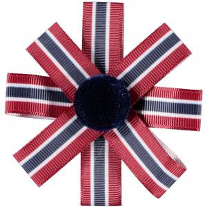 Trilissy hårklips med Norske Flagg