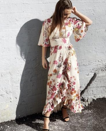 Delicate Semi  Wrap Gown - Cherish
