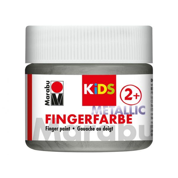 Marabu KIDS Finger Paint 100ml – Metallic Silver
