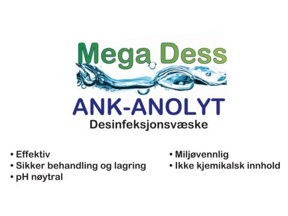 12 x 1 liter Mega Dess Desinfeksjonsvæske