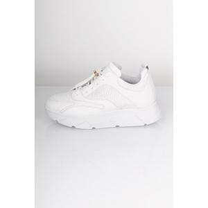Portia Snake Sneakers, White