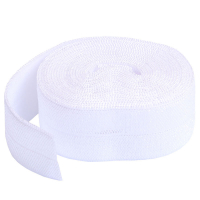 Fold over elastic hvit
