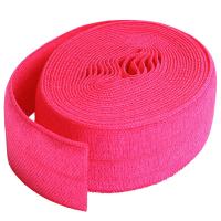 Fold over elastic rosa