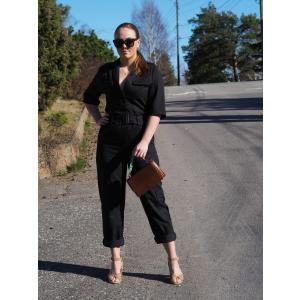 Tencel Cargo Suit - Black