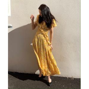 Satin Midi Wrap Dress Summer Field