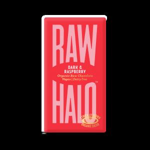 Raw Halo mørk sjokolade, bringebær