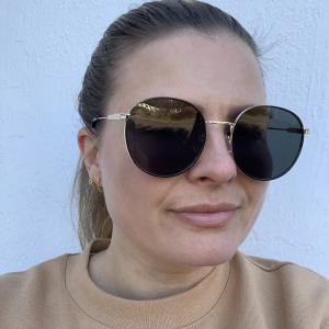 Lotus Gold Round Sunglasses