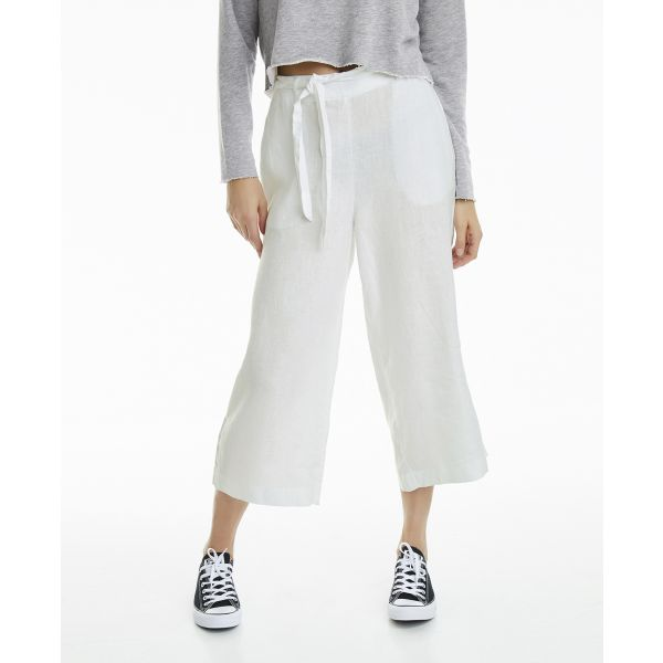 Leaf linen trouser