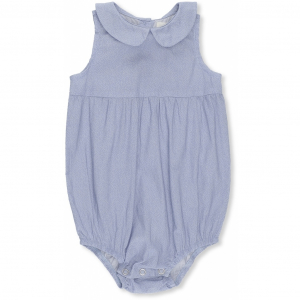 KONGES SLØJD - MINI ROMPER MINI DOTS DUSTY BLUE