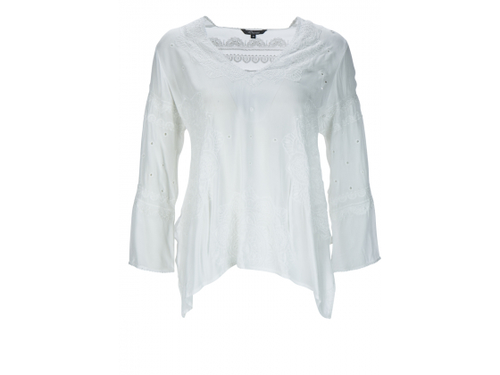 PRINCESS GOES HOLLYWOOD Off-White Lace Blouse
