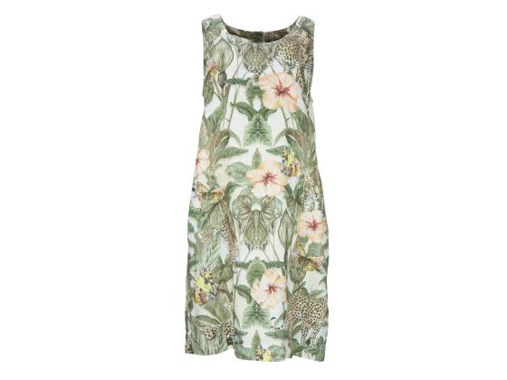 PRINCESS GOES HOLLYWOOD Jungle Leaves Armless Dress