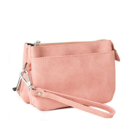 SoNize pink Zipper Pocket Purse