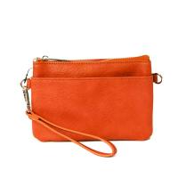 SoNize orange Zipper Pocket Purse