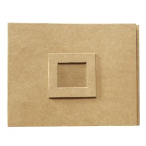 Album 10 plastlommer naturbrun