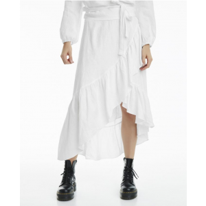 Wendy linen solid skirt