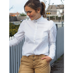 Sandy Poplin Puff Shirt