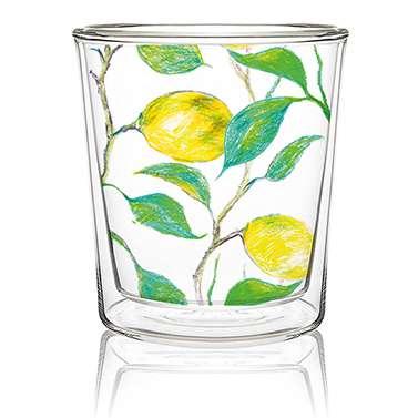Dobbeltvegget glass Beautiful Lemons