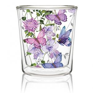 Dobbeltvegget glass Butterfly Splash