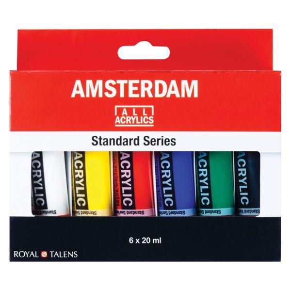 Amsterdam Standard 20ml – Sett 6 ass. farger