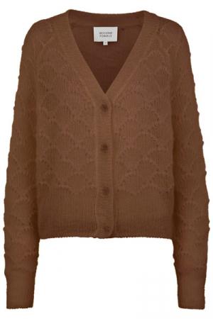 Palm Knit Cardigan Brown