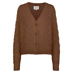 Palm Knit Cardigan Brown