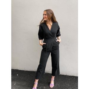 Malvina 2/4 Jumpsuit - Black