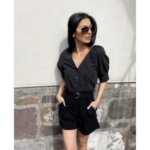 Malvina 2/4 Shirt - Black