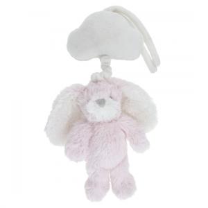 Spilledåse Kanin hvit/rosa 15cm