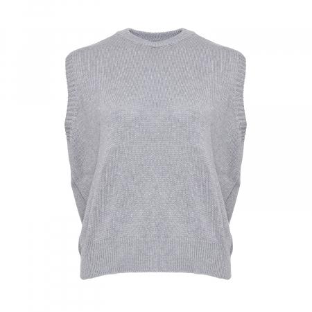 Alie Knit Vest Grey