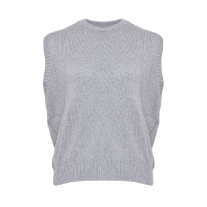 Alie Knit Vest Grey