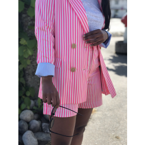 Striped blazer in oversized fit