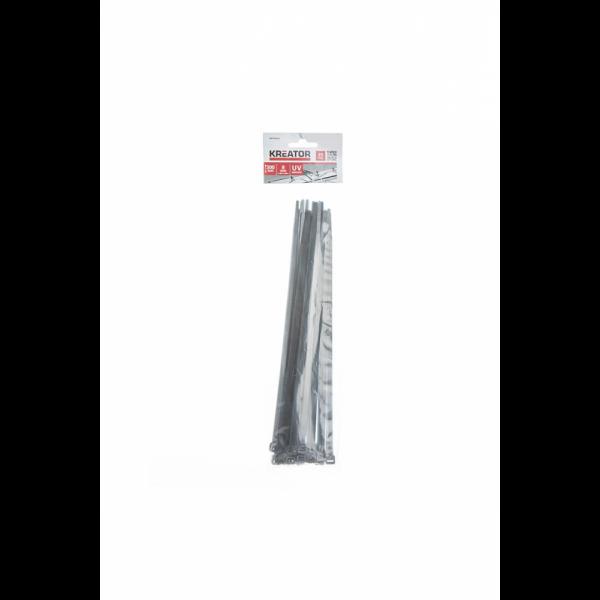 Strips Sorte Uv bestandig 300x8mm 25pk